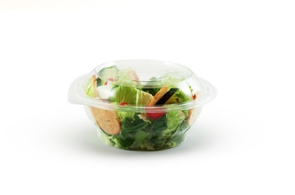 Sustainable ready meal packaging salad