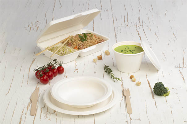 takeaway ready meal packaging sugar cane products